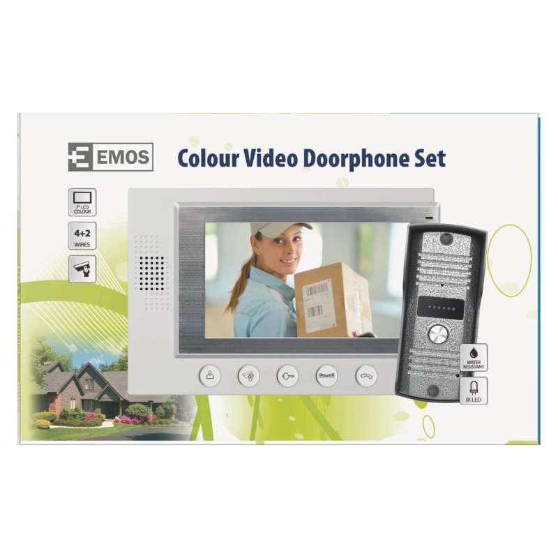"UKSE VIDEOTELEFON + MONITOR 7"" SET WHITE"