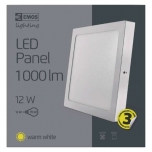 LED PANEL CEIL S 12W IP20 WW W