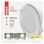 LED PANEL RECESSED 13W 2IN1 WW W