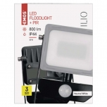 LED FLOODLIGHT ILIO 10W PIR
