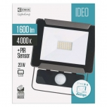 LED FLOODLIGHT IDEO 20W PIR