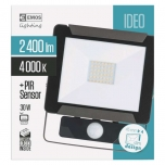 LED FLOODLIGHT IDEO 30W PIR