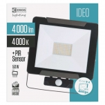 LED FLOODLIGHT IDEO 50W PIR