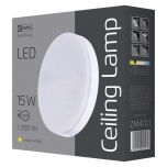 LED CEILI LAMP C 15W IP44 WW W