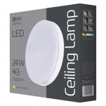LED CEILI LAMP C 24W IP44 WW W