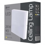 LED CEILI LAMP S 24W IP44 WW W