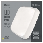 LED DORI SQUARE IP54/24W/WW W