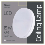 LED CEILI LAMP C 15W IP44 NW W