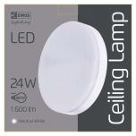 LED CEILI LAMP C 24W IP44 NW W