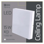 LED CEILI LAMP S 15W IP44 NW W