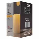 1LED WAX CAND FLICKER VNT 3