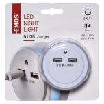 NIGHT LIGHT WITH USB 3LED 230V