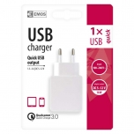 USB WALL CHARGER ADAPT. QUICK QC3.0