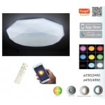 LED DIMMABLE CEILING LAMP WITH REMOTE CONTROL AND MULTICOLOR LIGHT OPTIONS, 48W