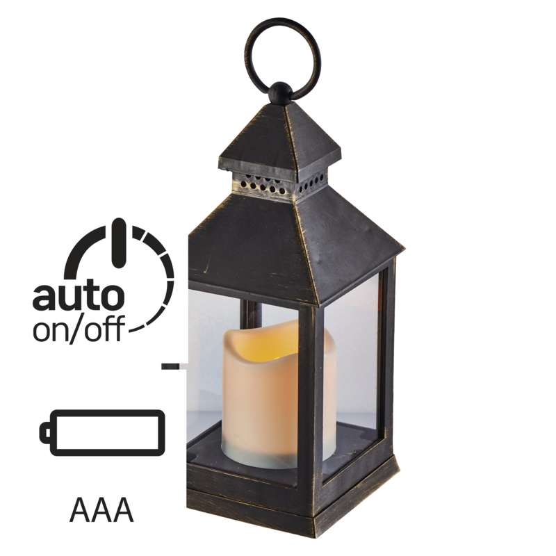 LED-ANTIIKLATERN must, 3x AAA